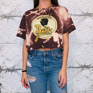HOUSTON BUFFS CROPPED TEE